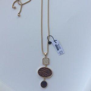 WNBM Basketweave Gold Pendent Necklace - NWT